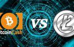 Bitcoin Cash против Litecoin: кто победит в соперничестве двух криптовалют
