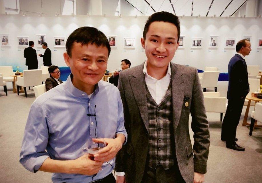 Основатель Alibaba Grup Джек Ма и Джастин Сан